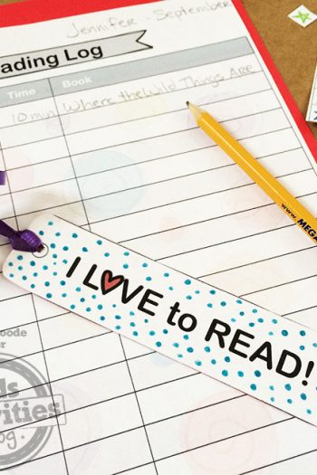 Make a reading log and bookmark with your child