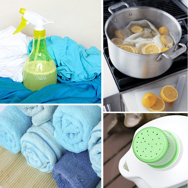 Linen Spray, Lemons Refresh, Rolled Towels with Rubber Bands & Easy detergent hack