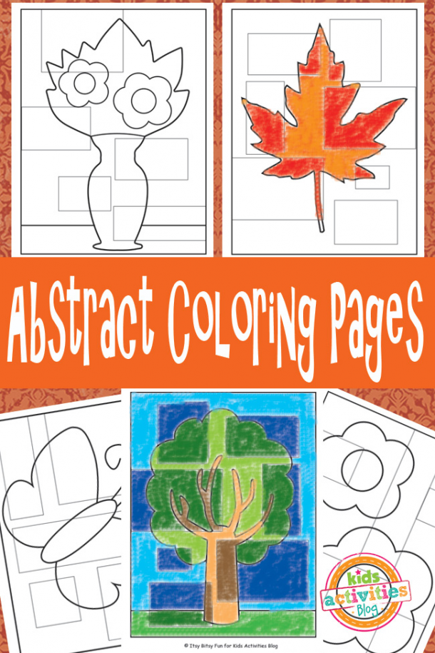 abstract coloring sheets