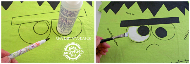 How to Make a Frankenstein Shirt by Amanda Formaro for Kids Activities Blog