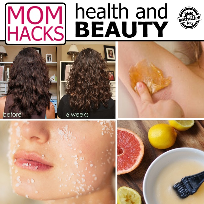 health and beauty hacks for moms