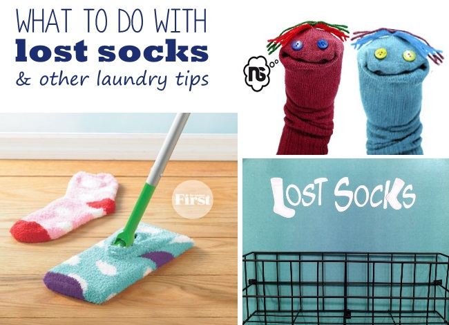 what to do with lost socks & other laundry tips