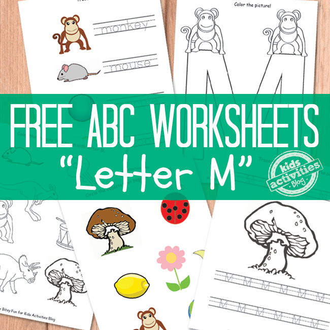 Letter M Worksheets Free Printable