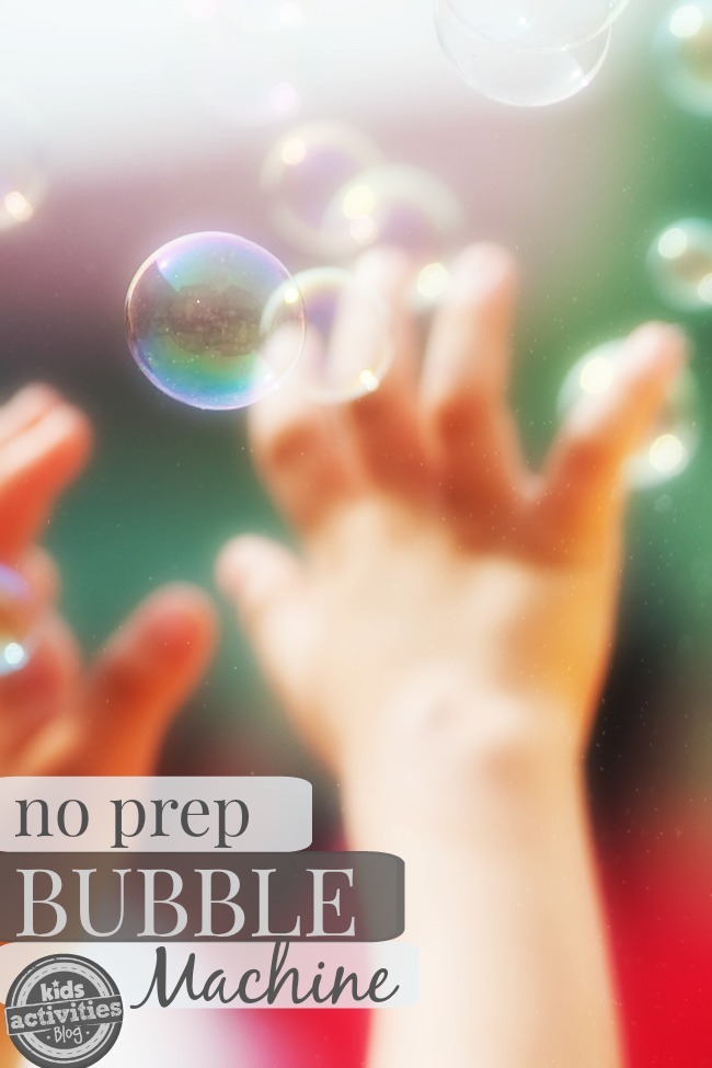 How to Make a {No Prep} DIY Bubble Machine