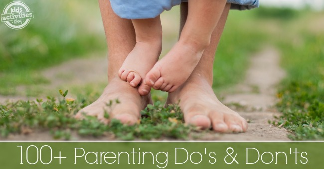 This list is full of parenting advice that are great reminders. It's nice to know that we aren't alone as parents!