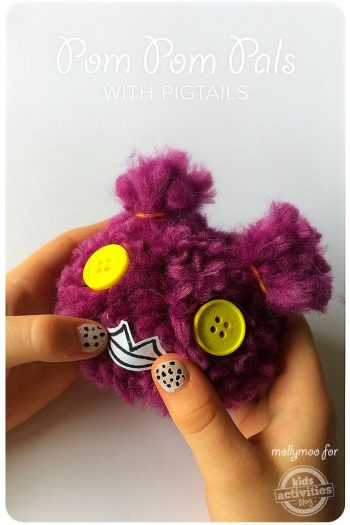 pom pom pals craft tutorial for kids