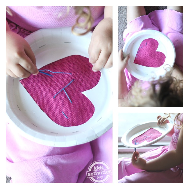 Easy sewing project for preschoolers