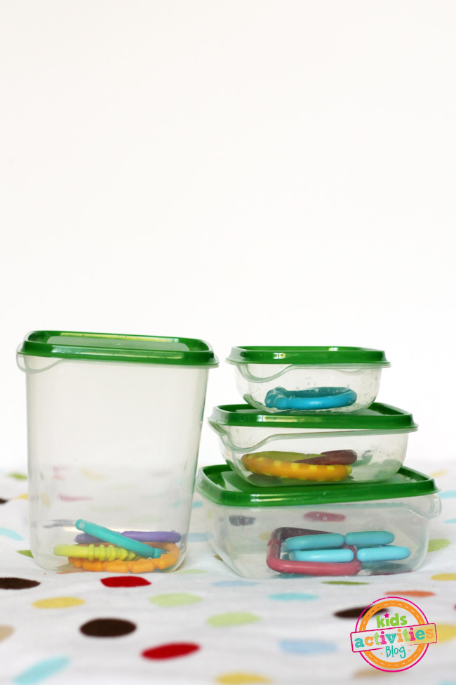 Container Fun! A Simple Baby Activity