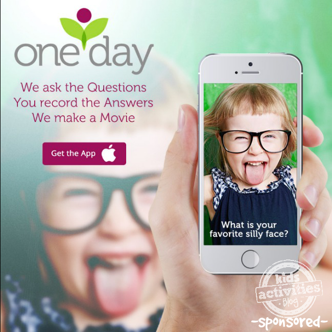 One Day App for easy video - Kids Activities Blog