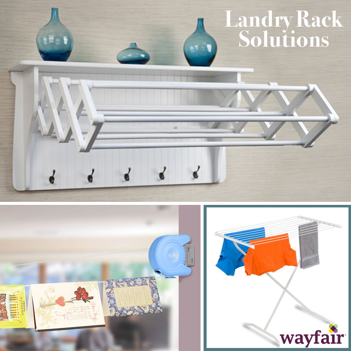 Great solutions for drying laundry - drying racks
