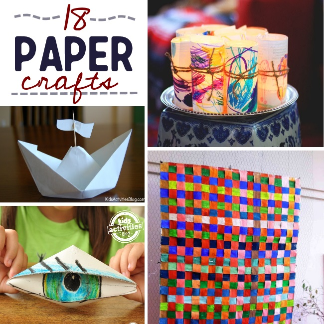 18 kids crafts made of paper with the wow-factor