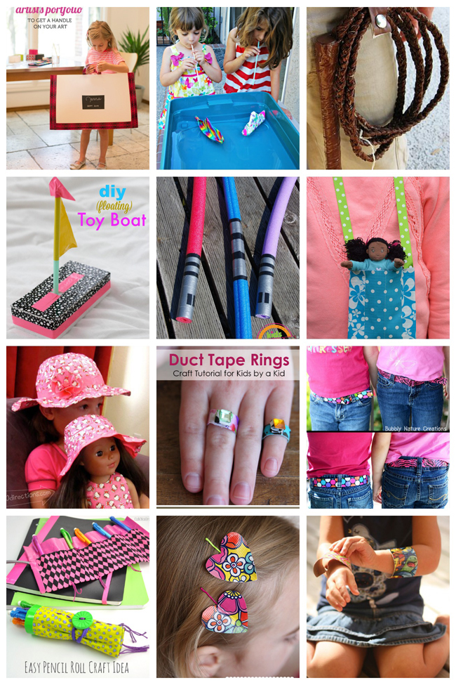 How to Make 20 Duct Tape Crafts Kids Will Love
