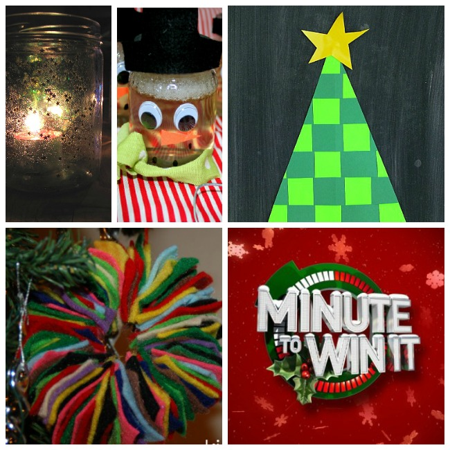 fun ideas for 25 days of christmas with candles, paper trees, christmas board games.