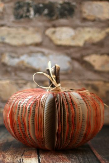This Beautiful Book Pumpkin Project Is the Perfect Frugal Fall Craft
