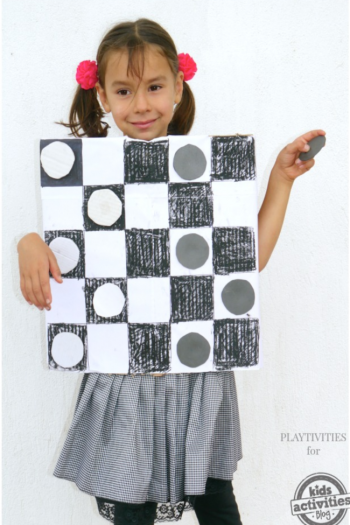 DIY Halloween Checkers Costume