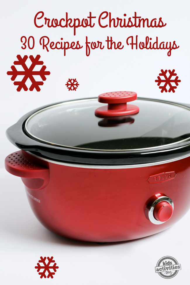 Make dinner easy by making this year a crockpot Christmas with a red crockpot.