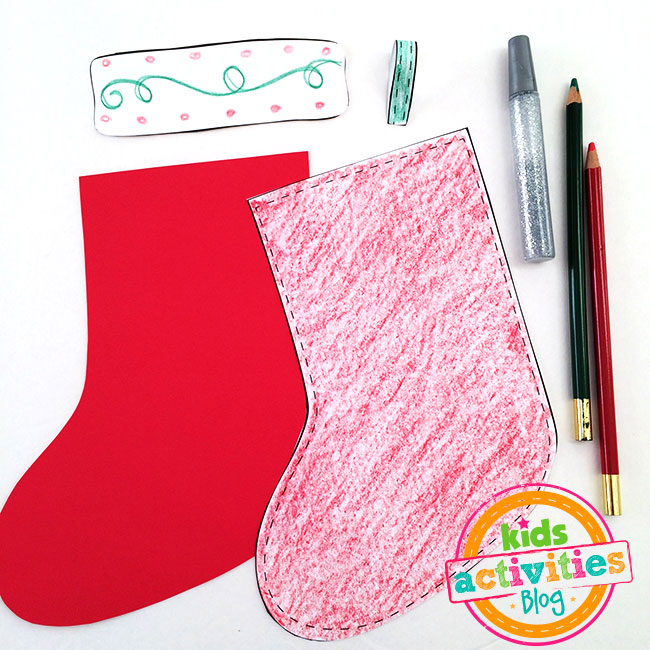 Make a cute stocking craft with this Decorate a Stocking printable