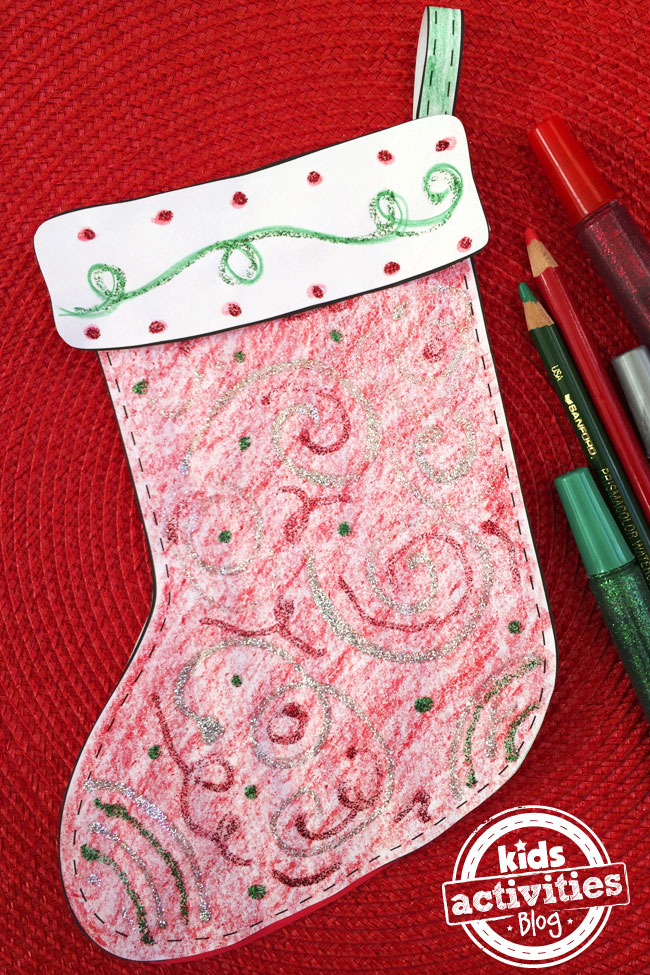 Decorate a Stocking printable designed by Jen Goode