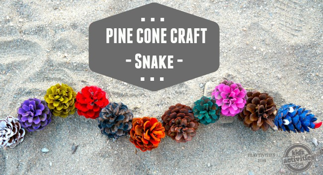 A snake made from pinecone