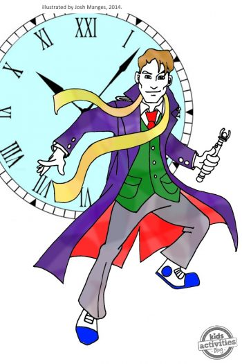 Time Doctor Who coloring pages