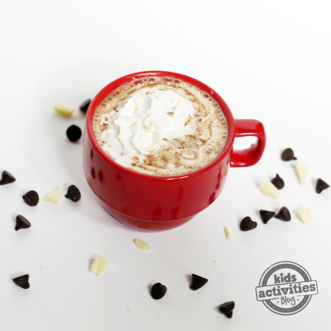 crockpot hot chocolate is the best, with whipped cream and dark chocolate chips and white chocolate shavings.