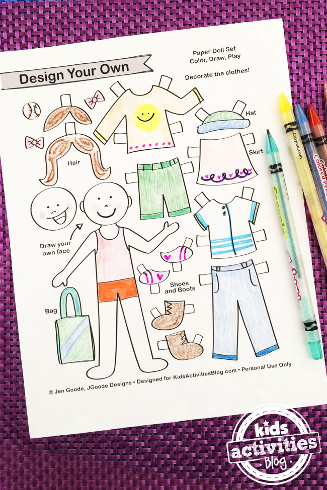 Design My Own paper doll kit by Jen Goode