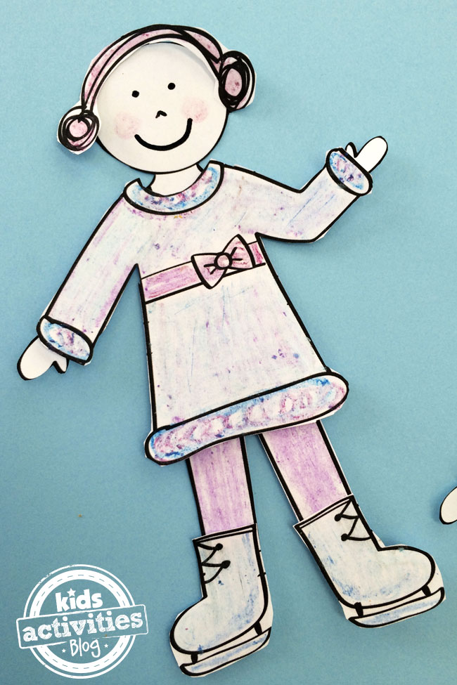 Printable Winter Paper Doll outfit designed by Jen Goode