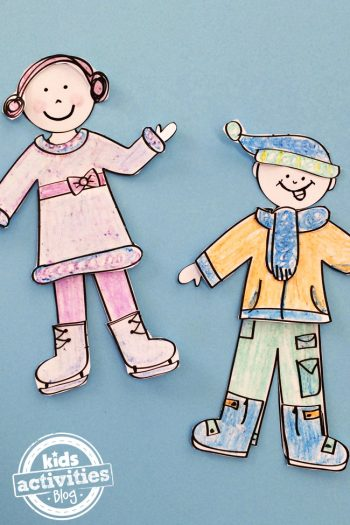 Design Your Own Winter Paper Dolls