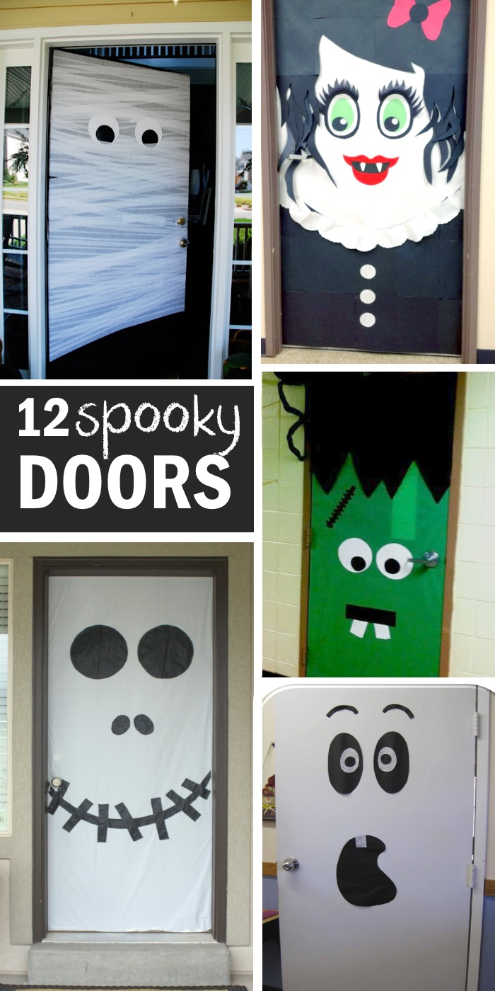 halloween front door ideas that are spooky -- kinda