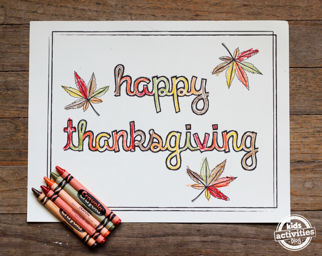 free printable placemats for Happy Thanksgiving