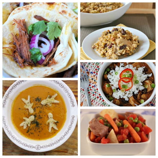 Enjoy these easy crockpot recipes that include chicken curry, soup and tacos!