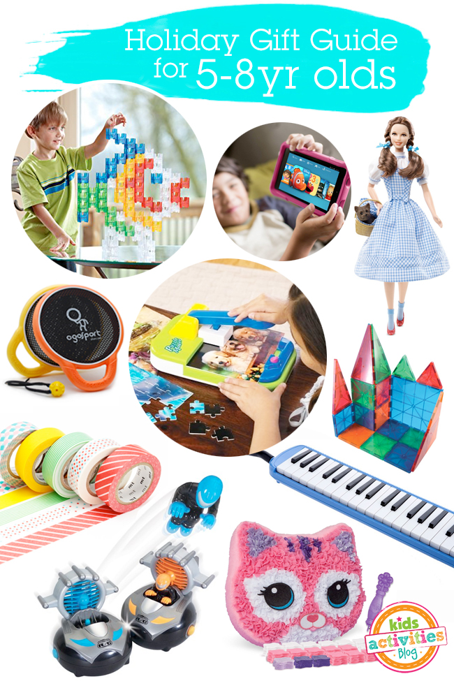 Holiday Gift Guide for 5-8yr olds