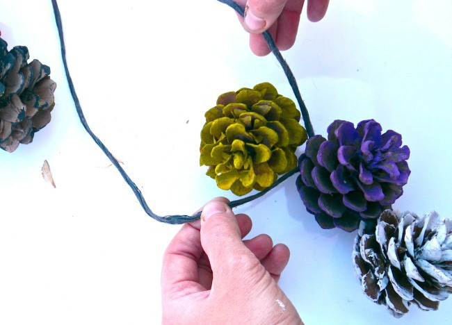making pine cone craft