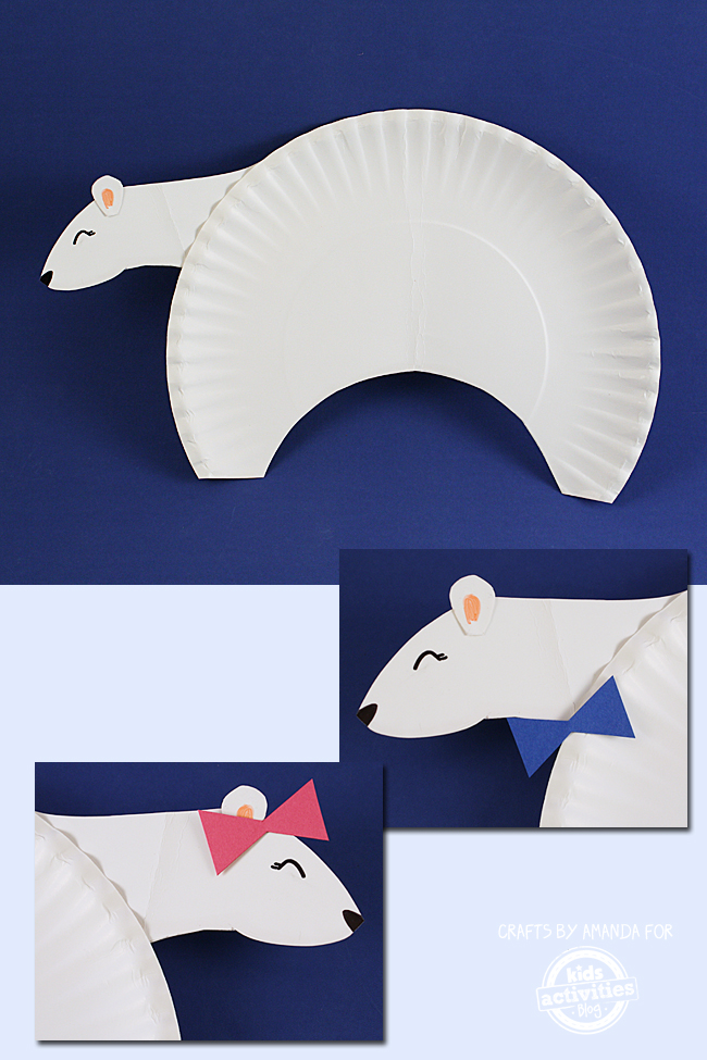 Adorable Paper Plate Polar Bear Craft for Kids