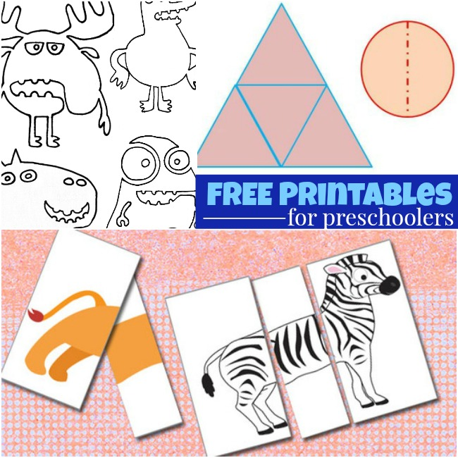 Super fast preschool activities to set up with printables and animal puzzles