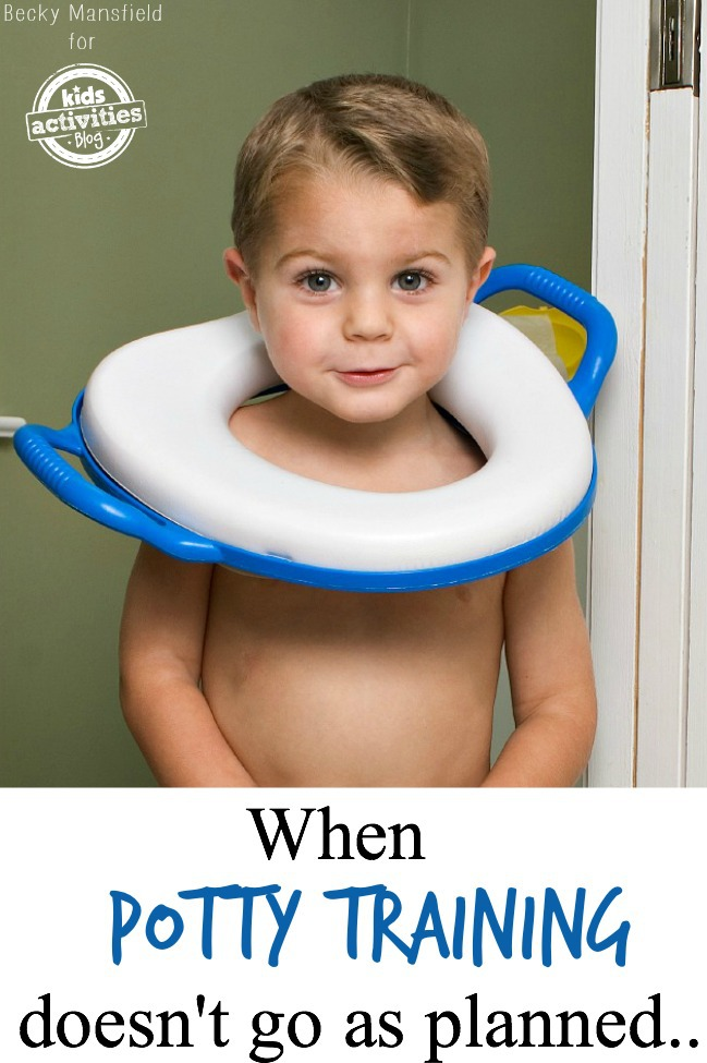 when potty training doesn't go as planned