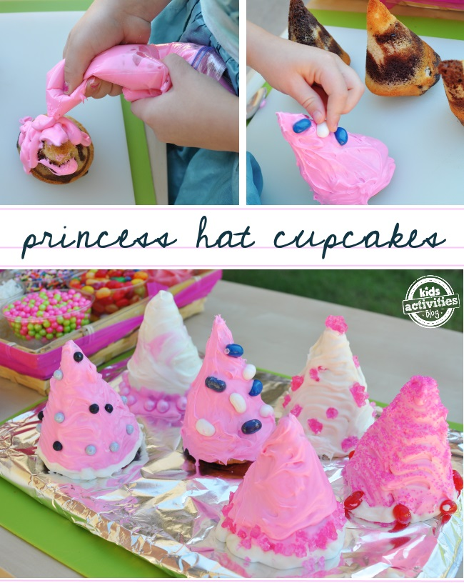 such a cute idea make cupcakes for a girls princess birthday using snow cone cups