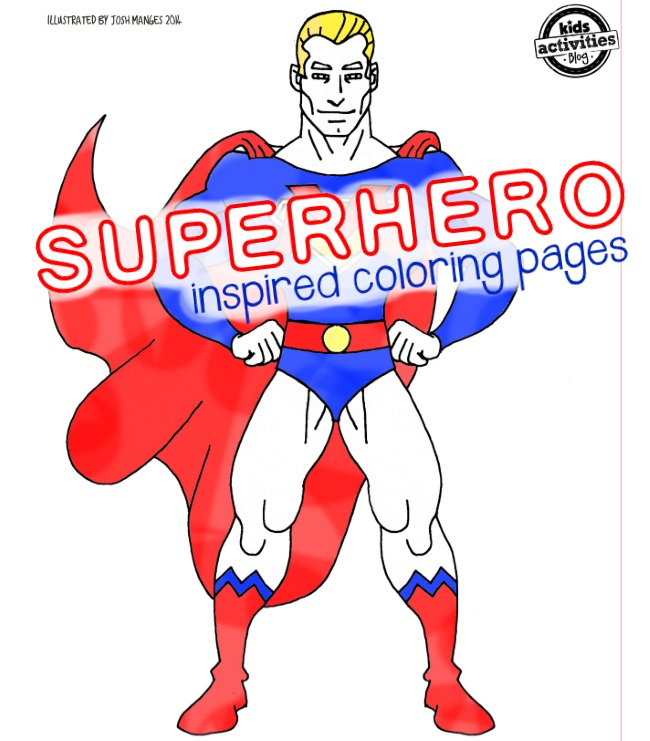 super hero coloring page pack for kids