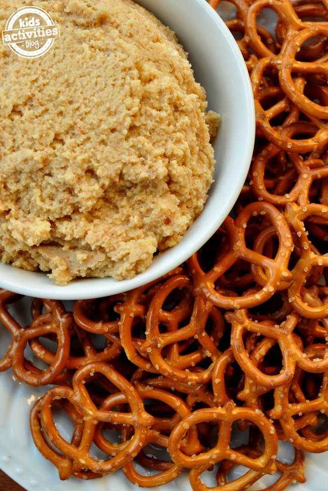 Cookie Butter - tastes good with pretzels but even better on bagels