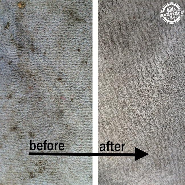 this peroxide carpet cleaner really works these are before and after of carpet stains