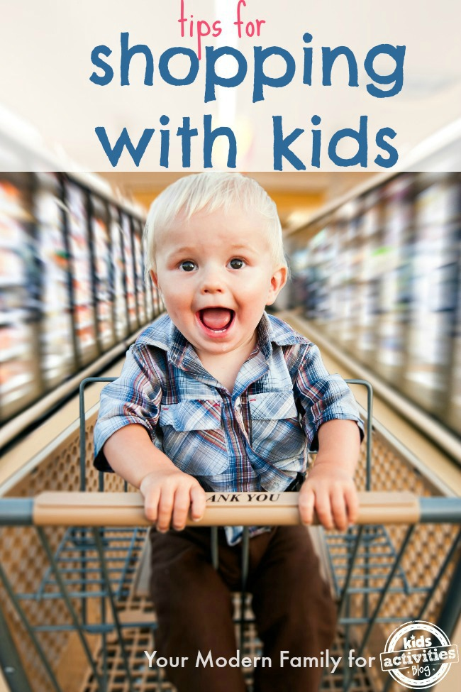 shopping with your kids