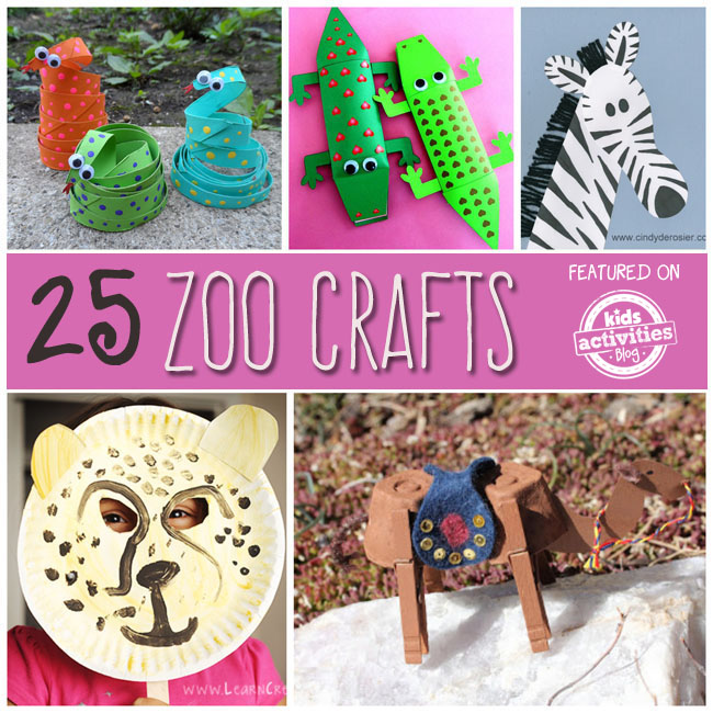 25 Zoo Animal Crafts and Recipes