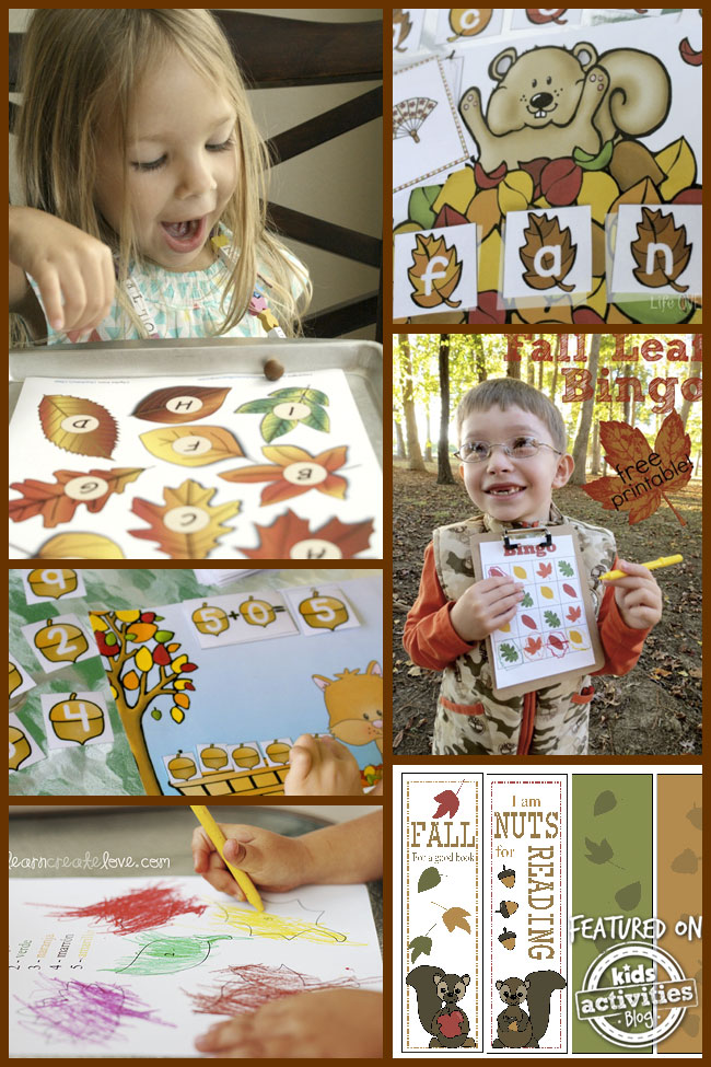 Fall Printable Activities