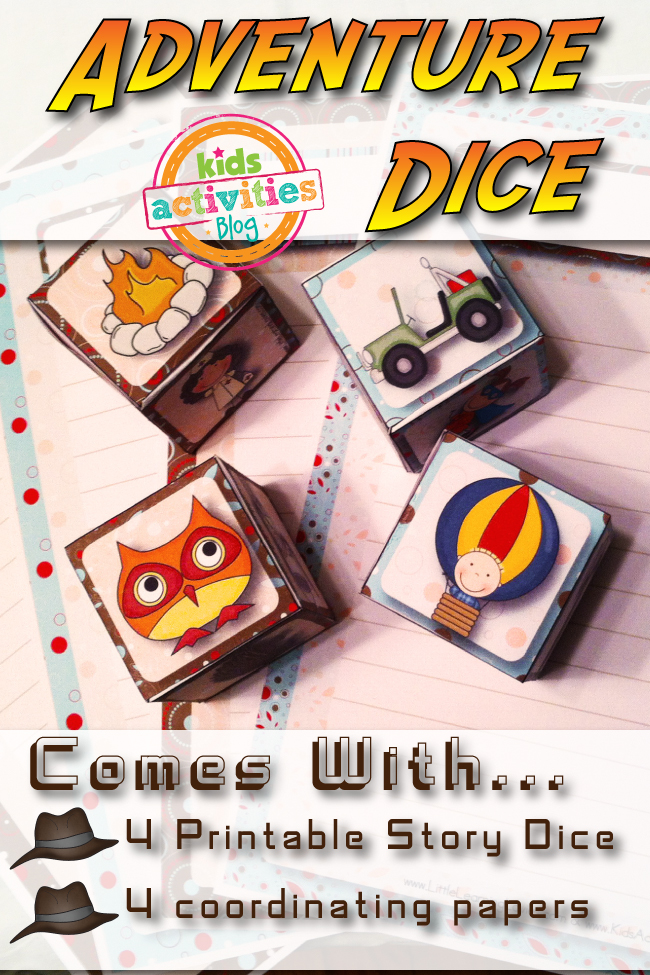 Free Printable Creative Adventure Dice
