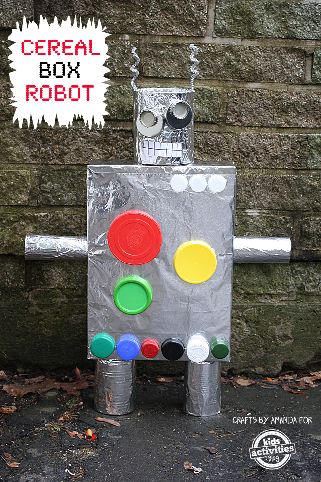 Recycled Crafts: Cereal Box Robot