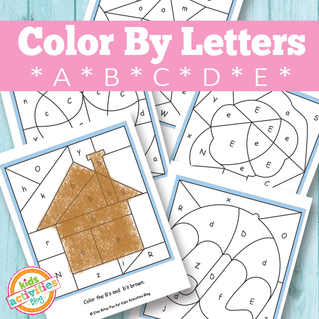 Color By Letters Free Printables