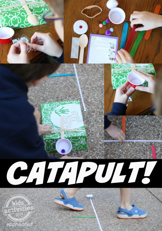 Green Kid Crafts Catapult