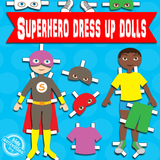Superhero Boy Paper Dolls Free Printable