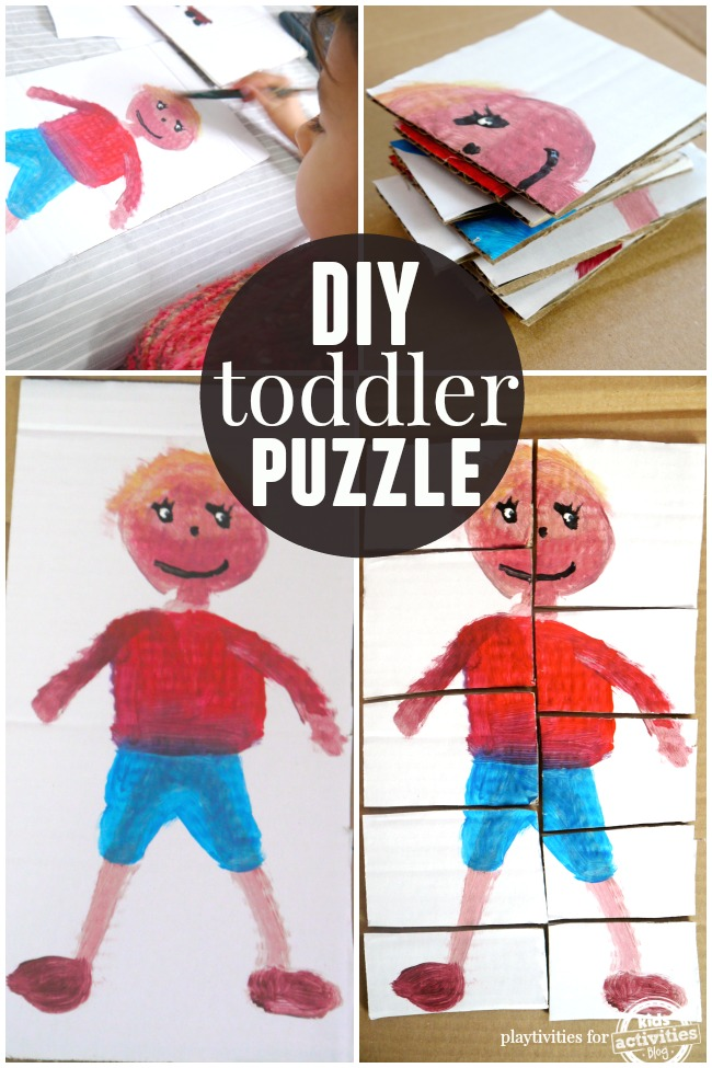 homemade toddler puzzle