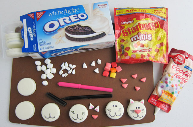 how to make Oreo cats
